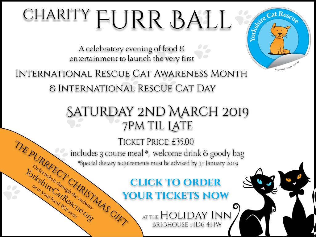 Yorkshire Cat Rescue charity furr ball 2 March 2019