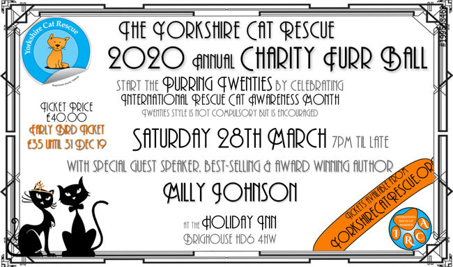 Yorkshire Cat Rescue 28 March 2020 FurrBall twenties theme