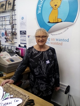 Volunteer at the Yorkshire Cat Rescue charity shop in Brighouse