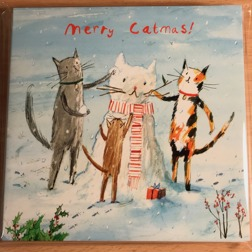 Merry Catmas Christmas Card Yorkshire Cat Rescue