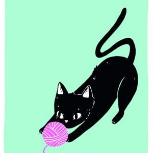 Because cats - single card - Wool Chase