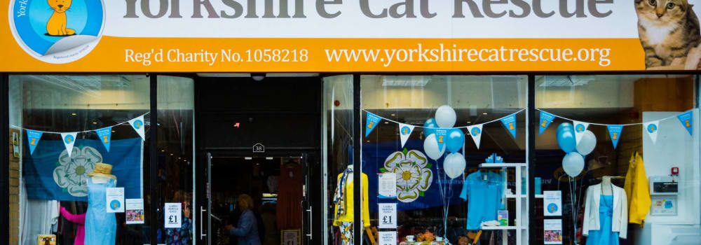 Yorkshire Cat Rescue charity shop Halifax