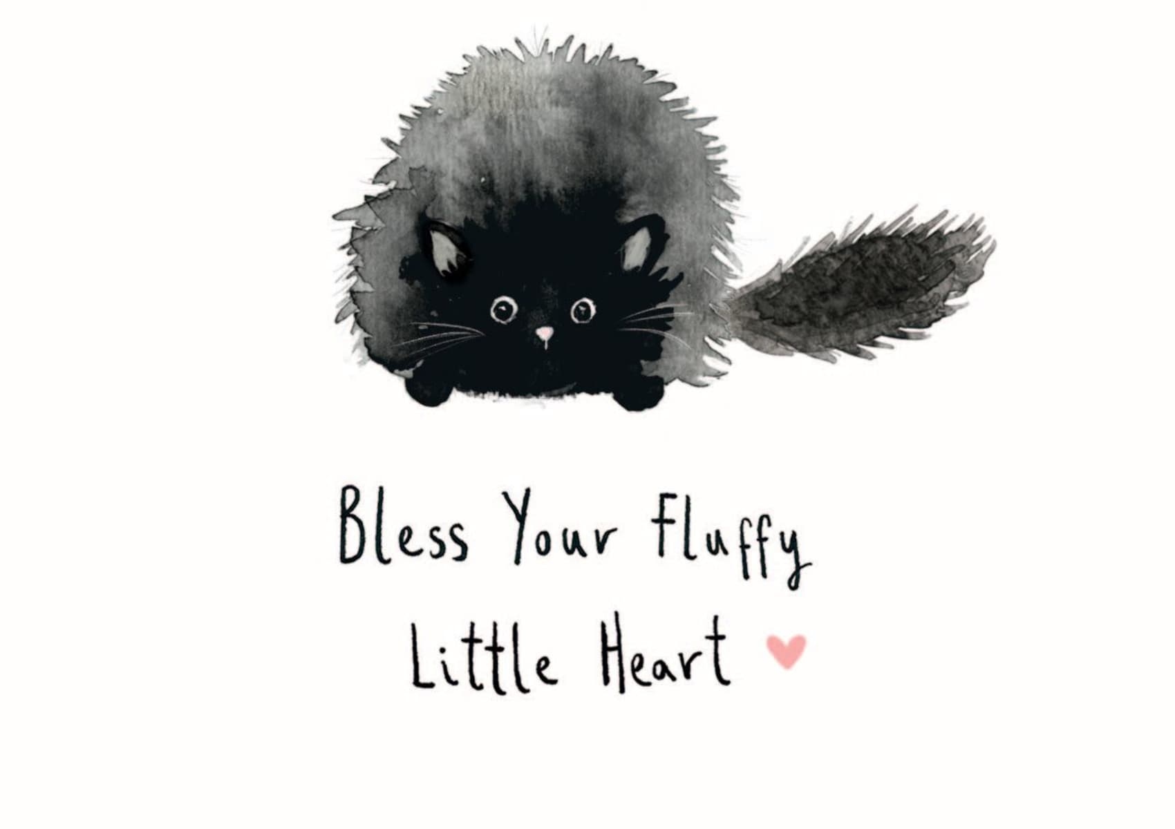 Because cats - single card - Bless Your Fluffy Little Heart